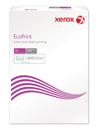 A4 Xerox 80g//m2 500 Sheets pack of 2500 sheets White Recycled Paper