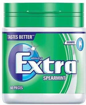 Extra Spearmint Tub Large - 60 Pieces - Sugar Free
