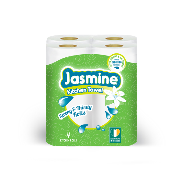 Jasime 2Ply Kitchen Roll - 4 Roll Per Pack