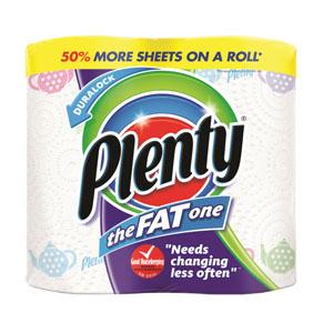 Plenty 2Ply Kitchen Rolls - The Fat One 2x Roll Pack