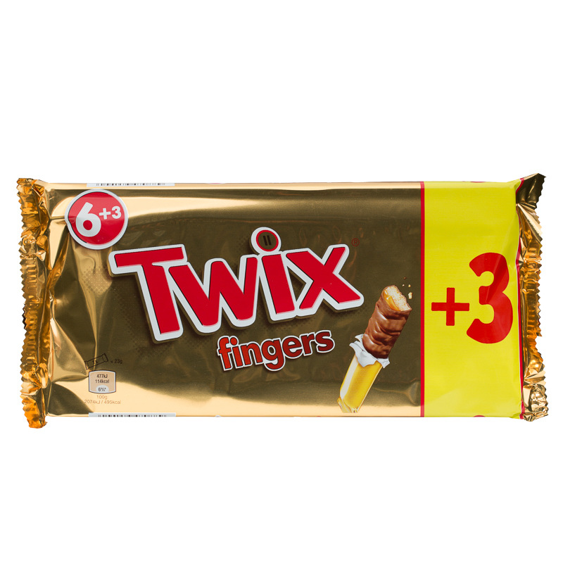 Twix Fingers 9 Bars Per Pack