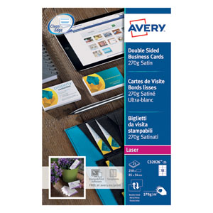 Avery White Laser Business Cards Pk250