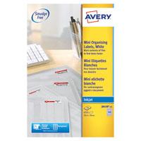 Avery Inkjet Mini Ink Labels Wht Pk4725