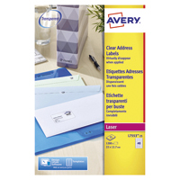 Avery Laser Mini Label Clear Pk1200