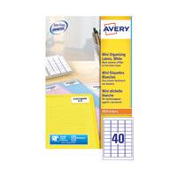 Avery Laser Mini Labels Wht Pk1000