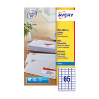 Avery Inkjet Mini Labels Wht Pk1625