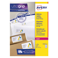 Avery White L7651-25 Laser Labels