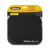 Fellowes Microban Black Mouse Mat