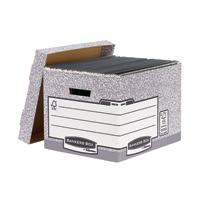 Fellowes Bankers Storage Box Grey Pk10