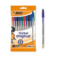 Bic Cristal Med Asstd Ballpoint Pen Pk10