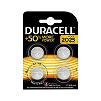 Duracell 2025 Lithium Coin Battery Pk4