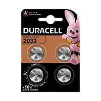 Duracell 2032 Lithium Coin Battery Pk4
