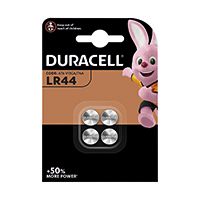 Duracell LR44 Button Batteries PK4