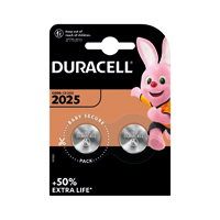 Duracell 3V DL2025 Battery Lithium Pk2