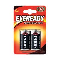 Eveready Super H/Duty Size C Battery Pk2