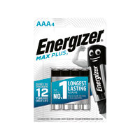 Energizer Max Plus AAA Batteries Pk4