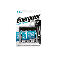 Energizer Max Plus AA Batteries Pk4
