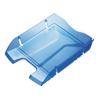 Helit PET Rcyc Blue Letter Tray H2363530