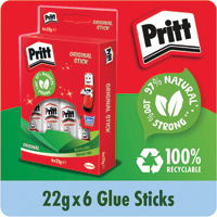Pritt Stick Medium 22g Stick Pk6
