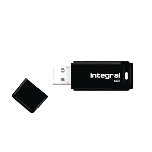 Integral Black USB 8GB Flash Drive