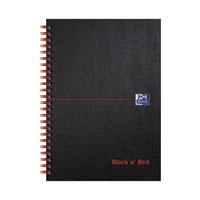 Black n Red A5 Wirebnd Hardback Notebook