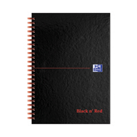 Black n Red Notebook A5 Indexd Pk5