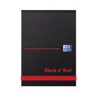 Black n Red HB Elast Notebook A7 Pk10