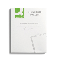 Q-Connect Delux Pocket Top Open A4 Pk100