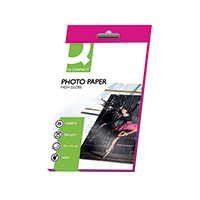Q-Connect 100x150mm Hi Gloss Photo Paper
