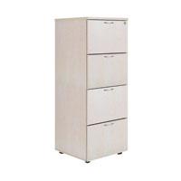 FF Jemini Maple 4 Drw Filing Cabinet