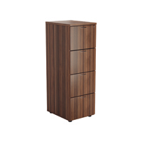 FF Jemini Walnut 4 Drawer File Cabinet