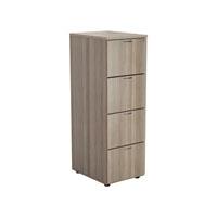 FF Jemini Grey Oak 4 Drawer File Cabinet