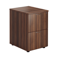 FF Jemini Walnut 2 Drawer File Cabinet