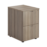 FF Jemini Grey Oak 2 Drawer File Cabinet