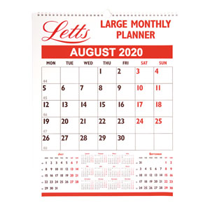 Letts Large Monthly Planner 2020
