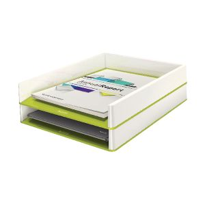 Leitz WOW Letter Tray Dual Colour Green