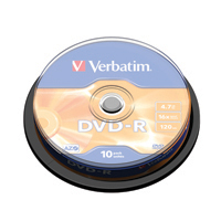 Verbatim DVD-R 16x NonPrint Spndle 43523